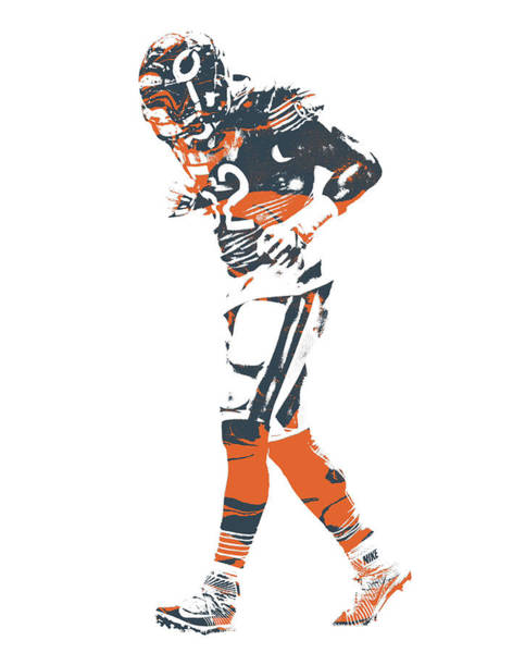 Wall Art - Mixed Media - Khalil Mack Chicago Bears Pixel Art 5 by Joe Hamilton
