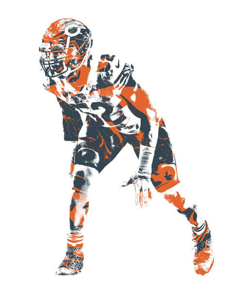 Wall Art - Mixed Media - Khalil Mack Chicago Bears Pixel Art 7 by Joe Hamilton