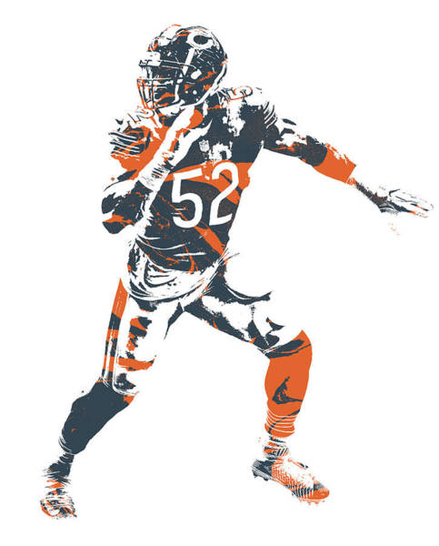 Wall Art - Mixed Media - Khalil Mack Chicago Bears Pixel Art 8 by Joe Hamilton