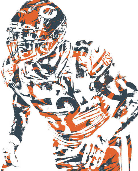 Wall Art - Mixed Media - Khalil Mack Chicago Bears Pixel Art 99b by Joe Hamilton