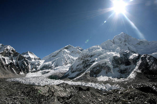 Khumbu Wall Art - Photograph - Khumbu Glacier by Richard Collins