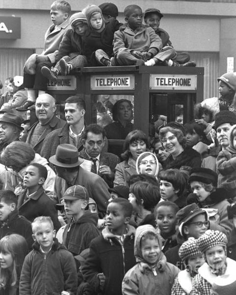 Photograph - Kids Rise Above The Madding Crowd At by New York Daily News Archive