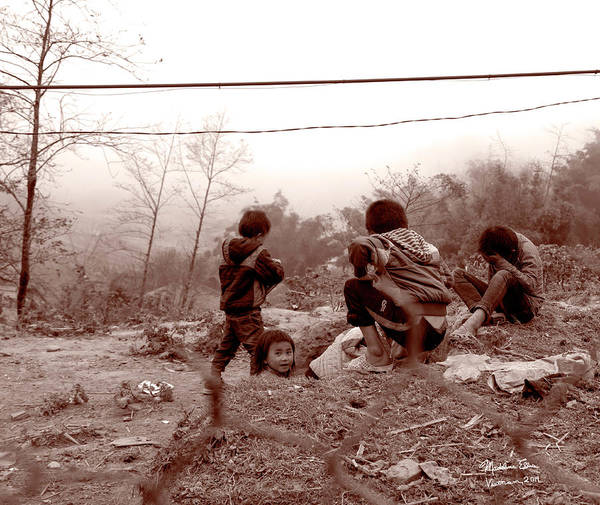 Wall Art - Photograph - Kids - Sa Pa, Vietnam by Madeline Ellis