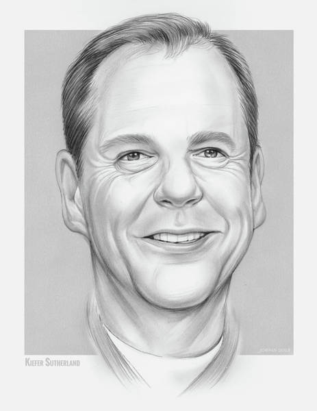 Drawing - Kiefer by Greg Joens