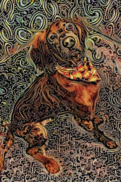 Digital Art - Kieran The Irish Setter by Peggy Collins