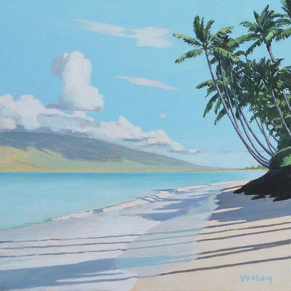 Wall Art - Painting - Kihei Halama Beach Morning, Maui by Stacy Vosberg