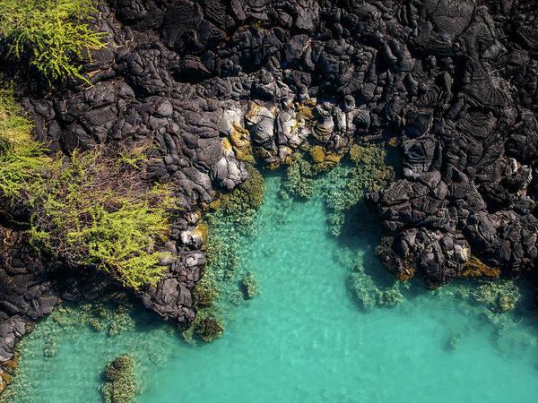 Photograph - Kiholo Bay Coastline by Christopher Johnson
