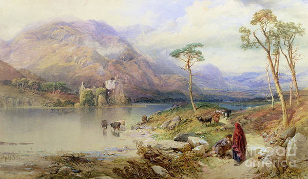 Wall Art - Painting - Kilchurn Castle On The Loch Awe by Thomas Miles Richardson