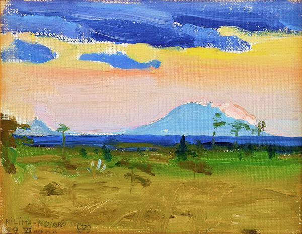Wall Art - Painting - Kilima-ndjaro - Digital Remastered Edition by Akseli Gallen-Kallela
