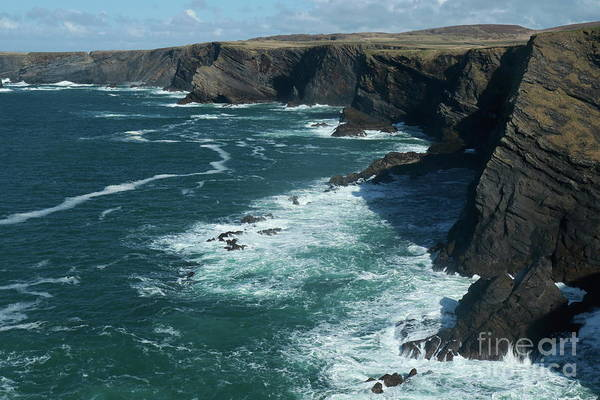 Photograph - Kilkee Cliffs by Peter Skelton