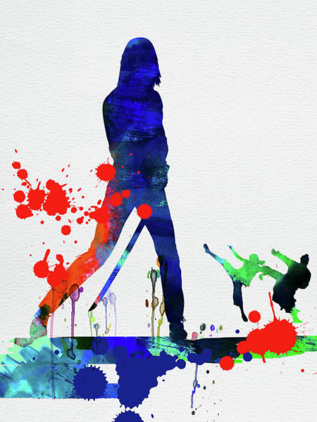 Watercolor Mixed Media - Kill Bill Watercolor by Naxart Studio