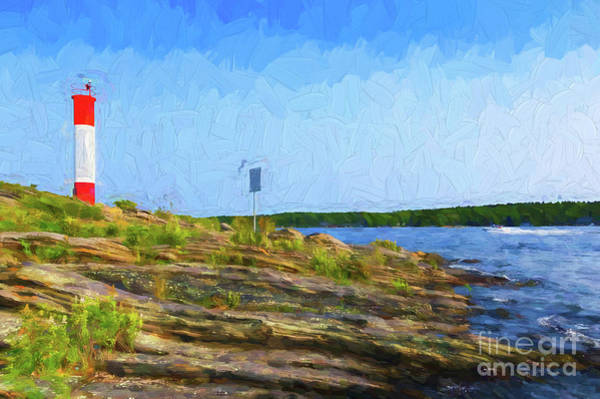 Photograph - Killbear Lighthouse - Painterly by Les Palenik