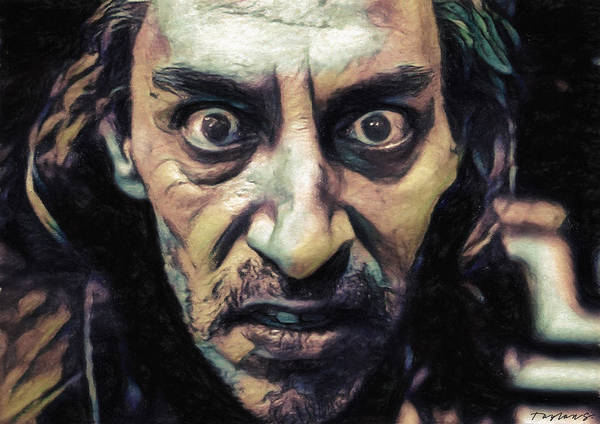 Serial Killer Painting - Killer Bob by Zapista Zapista