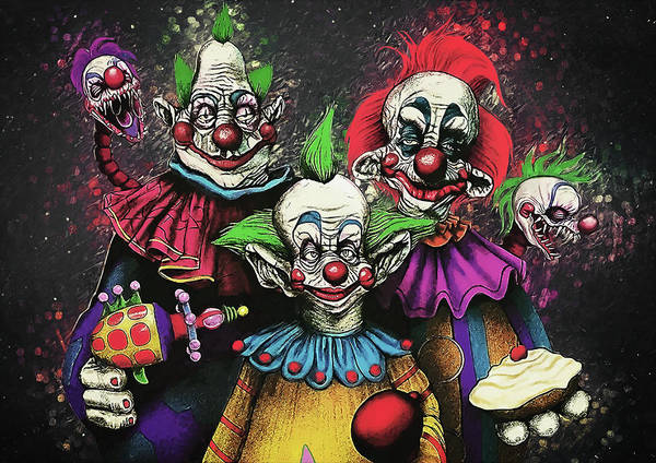 Wall Art - Digital Art - Killer Klowns From Outer Space by Zapista Zapista