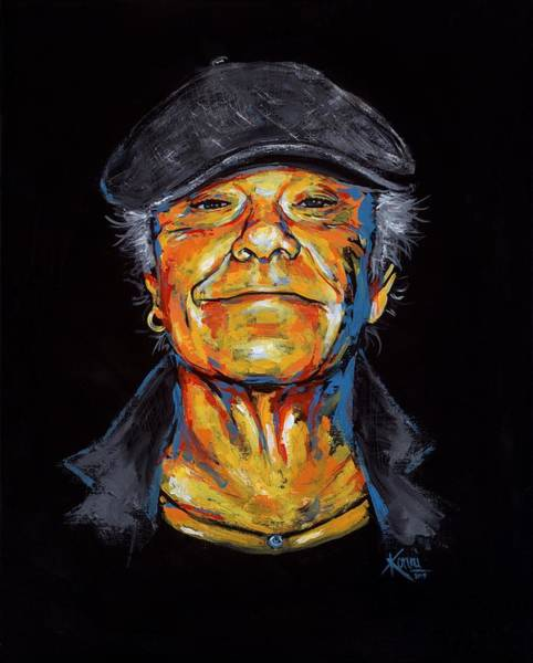 Painting - Kim Larsen Tribute by Konni Jensen