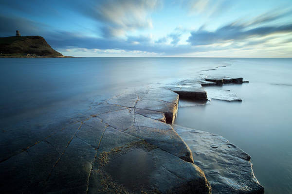 Wall Art - Photograph - Kimmeridge Bay At Sunset, Dorset by Travelpix Ltd