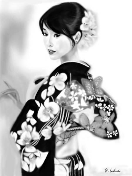 Painting - Kimono Girl No.28 by Yoshiyuki Uchida