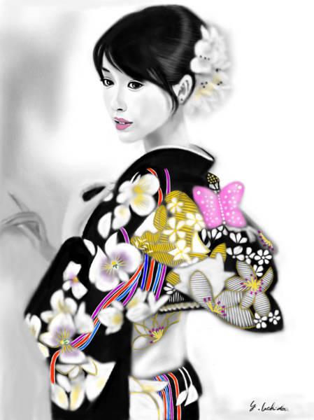 Painting - Kimono Girl No.29 by Yoshiyuki Uchida
