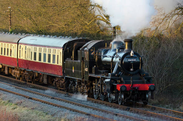 Photograph - Kinchley Curve by Steam Train
