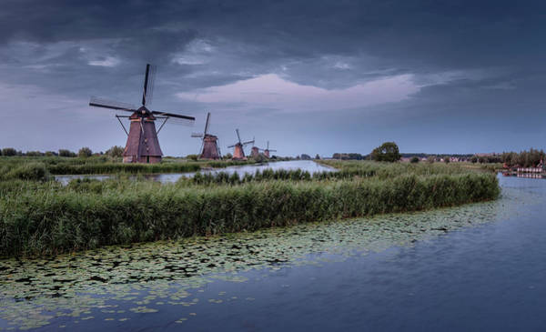 Photograph - Kinderdijk Dark Sky by Mario Visser