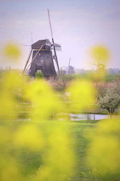 Wall Art - Photograph - Kinderdijk Windmill by Christian Heeb
