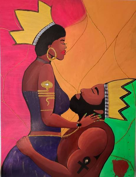 Love Painting - King And Queen Ish by Faith Ardynblu Jackson