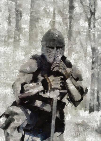 Wall Art - Painting - King Arthur By Mary Bassett by Mary Bassett