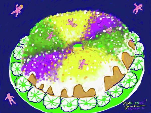 Digital Art - King Cake by Jean Pacheco Ravinski