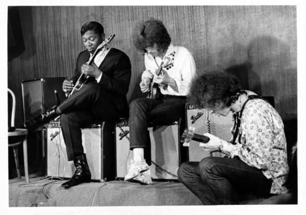 Photograph - King, Clapton & Bishop Jam by Michael Ochs Archives