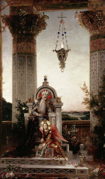 Wall Art - Painting - King David by Gustave Moreau