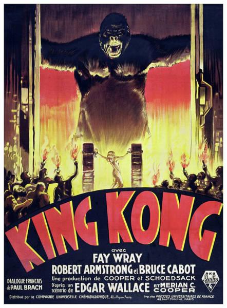 Big Island Digital Art - King Kong Classic Movie Poster by Filip Hellman
