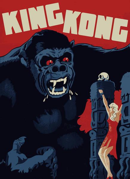 Big Island Digital Art - King Kong Vintage Poster by Filip Hellman