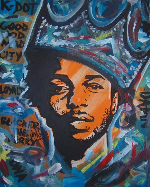 Painting - King Lamar by Antonio Moore