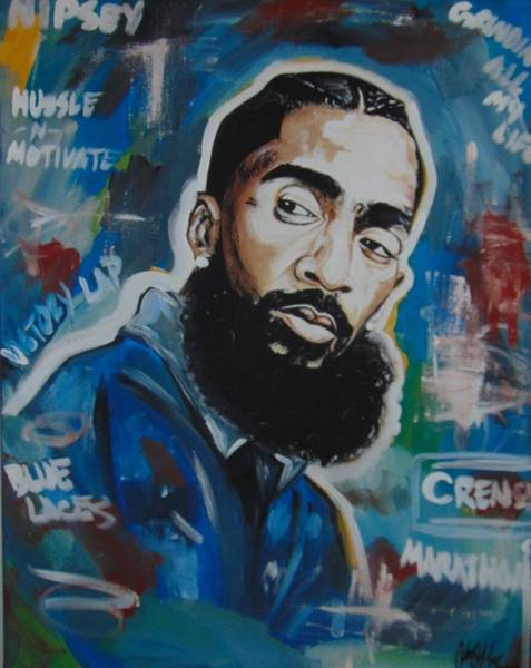 Painting - King Nipsey by Antonio Moore