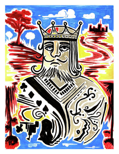 Crown Imperial Painting - King Of Cards by Adam Santana