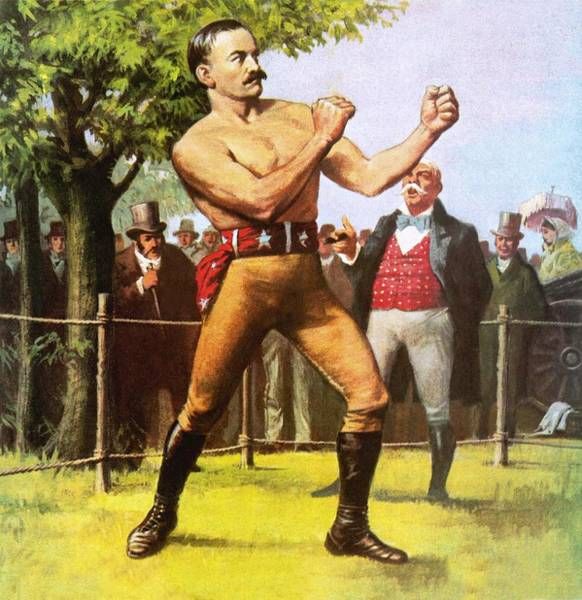 Wall Art - Painting - King Of The Bare Knuckle Boxers John L Sullivan by Ralph Bruce