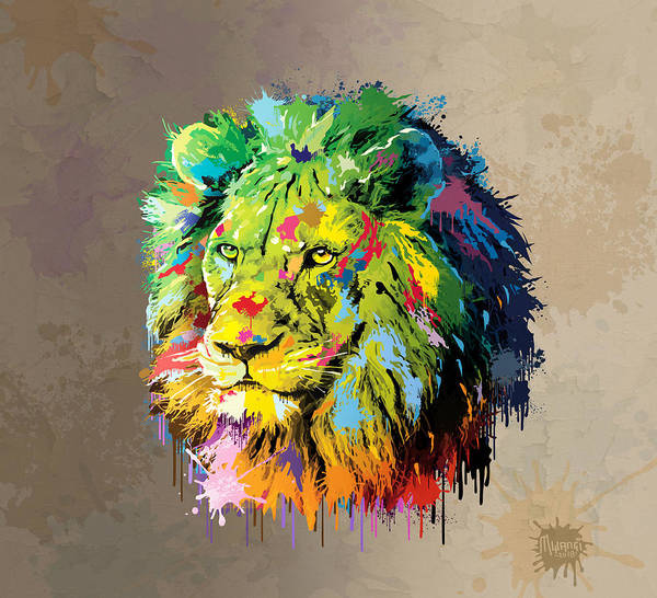 Wall Art - Painting - King Of The Jungle by Anthony Mwangi