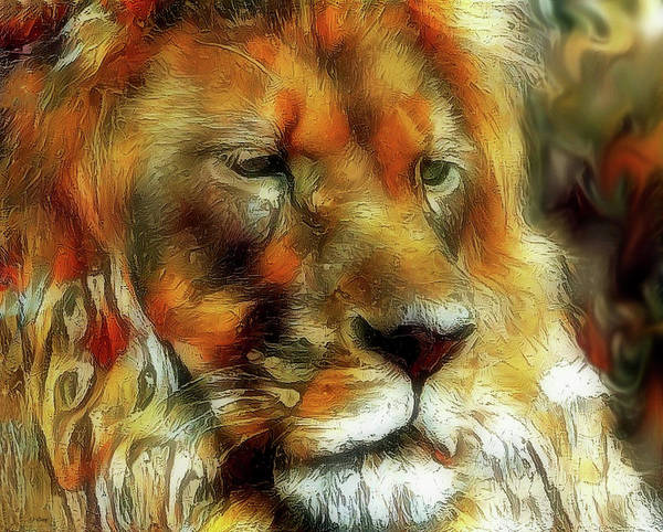 Male Mixed Media - King Of The Jungle by G Berry