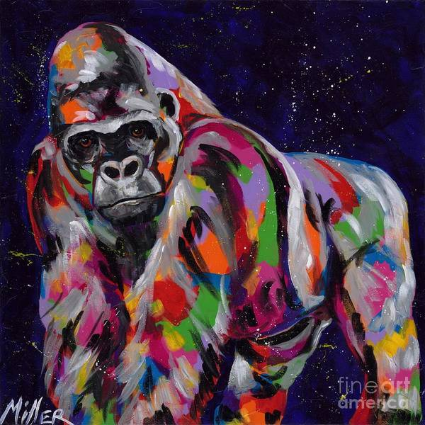Wall Art - Painting - King Of The Jungle by Tracy Miller