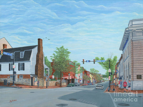 Wall Art - Painting - King Street Old Town Alexandria by Aicy Karbstein
