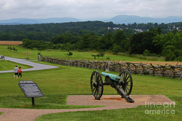 Photograph - King William Artillery Marker And Cannon Gettysburg by James Brunker