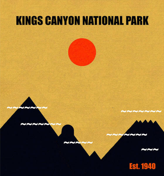 Wall Art - Mixed Media - Kings Canyon N. P. M Series by David Lee Thompson