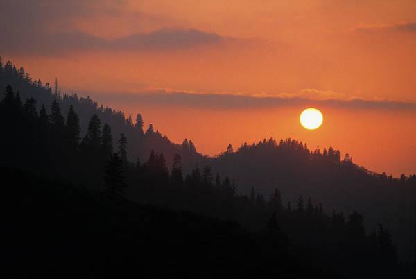 Kings Canyon Photograph - Kings Canyon Smokey Sunset by Buck Forester