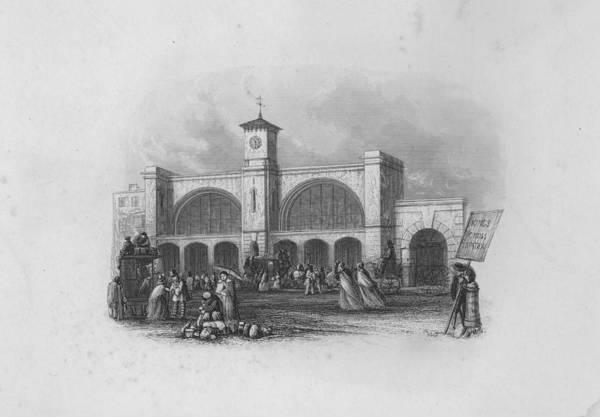 Train Tracks Digital Art - Kings Cross by Hulton Archive