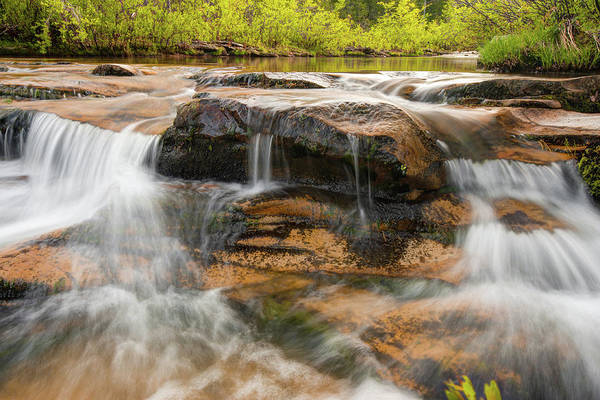 Photograph - Kings River Double Falls - Arkansas Ozark National Forest by Gregory Ballos