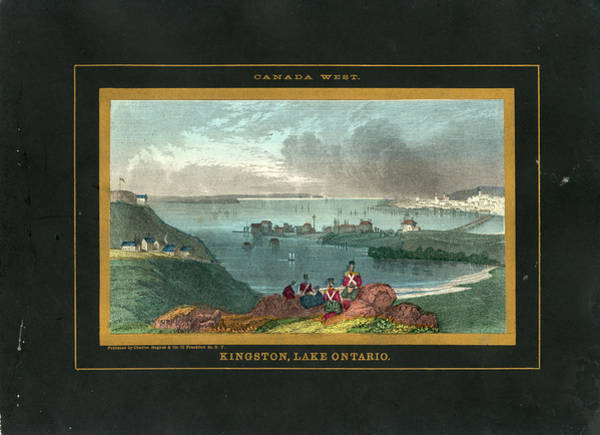Old Town Digital Art - Kingston And Lake Ontario 1850 To 1899 by Historic Map Works Llc