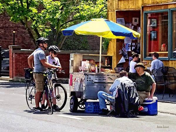 Photograph - Kingston Ny - Hot Dog Cart by Susan Savad
