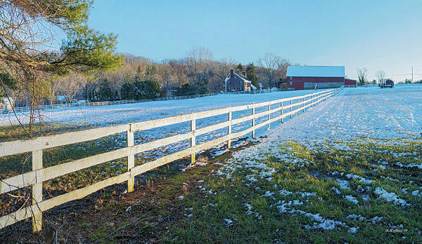 Kingsville Photograph - Kingsville Farm And Fence by Brian Wallace