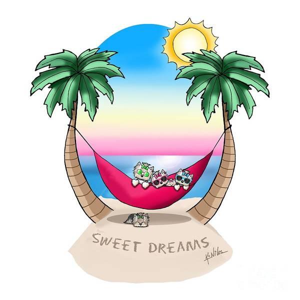 Wall Art - Mixed Media - Kiniart Yorkies Tropical Dreams by Kim Niles
