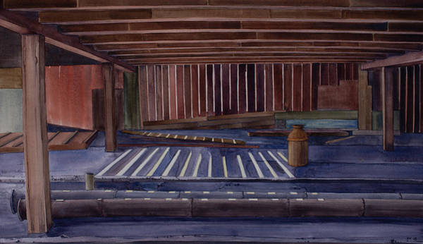 Painting - Kirby Farm Barn Interior by Scott Kirby